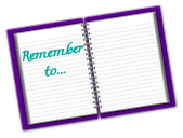 Journal showing remember to, to help you get unstuck and relieve stress
