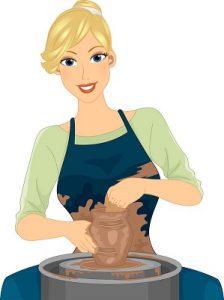 Woman at Pottery Wheel